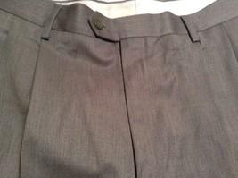 Braggi by Louis Raphael Gray Pleated Dress Pants Cuffed Bottom Size 34 by 32 image 8