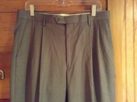 Braggi by Louis Raphael Gray Pleated Dress Pants Cuffed Bottom Size 34 by 32 image 2