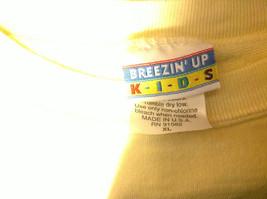 Breeze Up Kids Yellow Girls Graphic Sweatshirt Size XL image 3