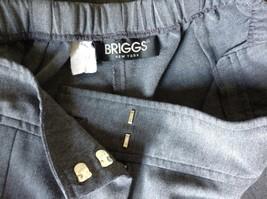 Briggs New York Gray Dress Pants Size 8 Elastic Waistband image 8