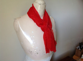 Bright Red Sheer Shiny Material Fashion Scarf Light Weight Material NO TAGS image 2