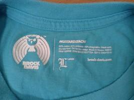 Brook Davis Mustardstache Size Large Short Sleeve Graphic T Shirt Light Blue image 6