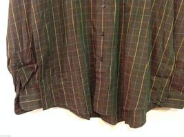 Brooks Brothers Dark Brown Green Hue Plaid Long Sleeve 100% cotton Shirt, Size L image 4