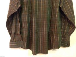 Brooks Brothers Dark Brown Green Hue Plaid Long Sleeve 100% cotton Shirt, Size L image 6