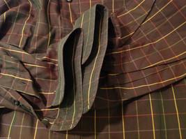 Brooks Brothers Dark Brown Green Hue Plaid Long Sleeve 100% cotton Shirt, Size L image 8