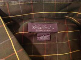 Brooks Brothers Dark Brown Green Hue Plaid Long Sleeve 100% cotton Shirt, Size L image 7