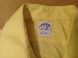Brooks Brothers Soft Yellow 100% cotton Shirt, Size 16-1/2 (33), No pockets image 9