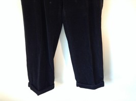 Brooks Brothers Jet Black Corduroy Pants Size 36 Made in Italy image 2