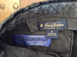 Brooks Brothers Jet Black Corduroy Pants Size 36 Made in Italy image 6