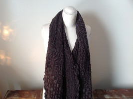 Brown Boho Style Scarf with Dots image 2