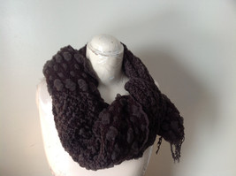 Brown Boho Style Scarf with Dots image 3