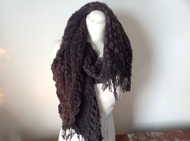 Brown Boho Style Scarf with Dots image 5