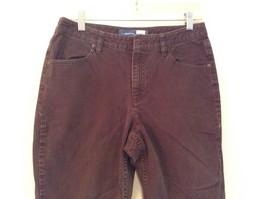 Brown Boot Cut Fit Size 8 Liz Claiborne Casual Pants Button and Zipper Closure image 2