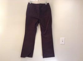 Brown Boot Cut Fit Size 8 Liz Claiborne Casual Pants Button and Zipper Closure image 5