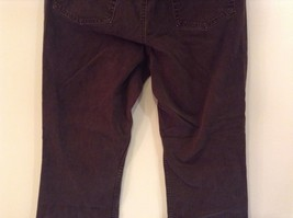 Brown Boot Cut Fit Size 8 Liz Claiborne Casual Pants Button and Zipper Closure image 7