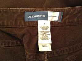 Brown Boot Cut Fit Size 8 Liz Claiborne Casual Pants Button and Zipper Closure image 9