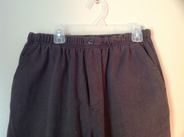 Brown Bobbie Brooks Elastic Waisted Casual Pants Fake Button and Fly Size 12P image 2
