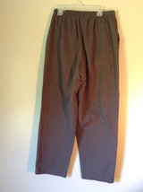 Brown Bobbie Brooks Elastic Waisted Casual Pants Fake Button and Fly Size 12P image 3