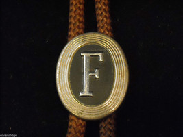"Brown Bolo Tie with ""F"" on the clasp image 2"
