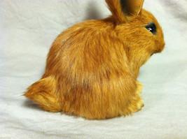 Brown Bunny Rabbit Animal Figurine - recycled rabbit fur image 5