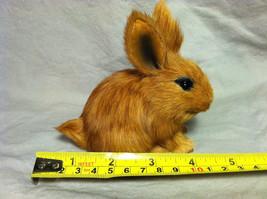 Brown Bunny Rabbit Animal Figurine - recycled rabbit fur image 9
