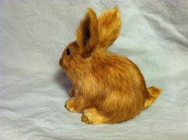 Brown Bunny Rabbit Animal Figurine - recycled rabbit fur image 7