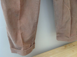 Brown Corduroy Pleated Dockers Dress Pants Cuffed Pant Legs Size 34 by 31 image 5