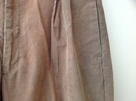 Brown Corduroy Pleated Dockers Dress Pants Cuffed Pant Legs Size 34 by 31 image 4
