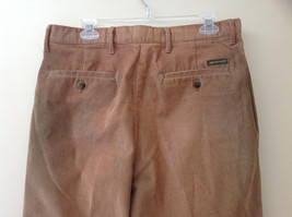 Brown Corduroy Pleated Dockers Dress Pants Cuffed Pant Legs Size 34 by 31 image 6