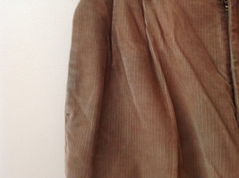 Brown Corduroy Pleated Dockers Dress Pants Cuffed Pant Legs Size 34 by 31 image 3