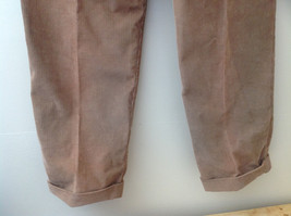 Brown Corduroy Pleated Dockers Dress Pants Cuffed Pant Legs Size 34 by 31 image 9