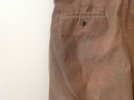Brown Corduroy Pleated Dockers Dress Pants Cuffed Pant Legs Size 34 by 31 image 7