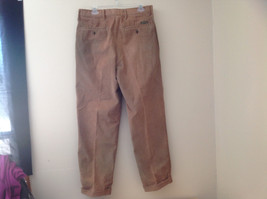 Brown Corduroy Pleated Dockers Dress Pants Cuffed Pant Legs Size 34 by 31 image 10