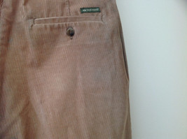 Brown Corduroy Pleated Dockers Dress Pants Cuffed Pant Legs Size 34 by 31 image 8