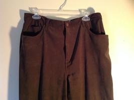 Brown Five Pocket Work Pants by Bill Blass Zipper Button Closure Size 14 image 2
