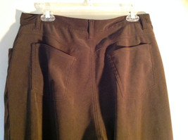 Brown Five Pocket Work Pants by Bill Blass Zipper Button Closure Size 14 image 5