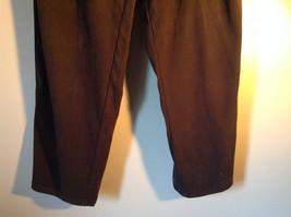 Brown Five Pocket Work Pants by Bill Blass Zipper Button Closure Size 14 image 3