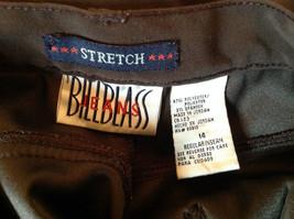 Brown Five Pocket Work Pants by Bill Blass Zipper Button Closure Size 14 image 7