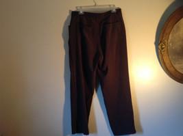 Brown Five Pocket Work Pants by Bill Blass Zipper Button Closure Size 14 image 6