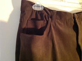 Brown Five Pocket Work Pants by Bill Blass Zipper Button Closure Size 14 image 4