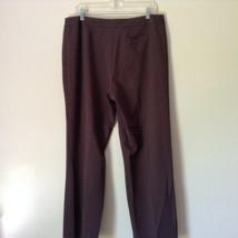 Brown Dress Pants by Pendleton Polyester Rayon Spandex Size 14 image 7