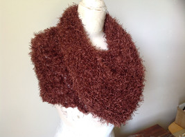 Brown Magic Fuzzy Circle Scarf Can Be Worn Multiple Ways NO TAGS image 6
