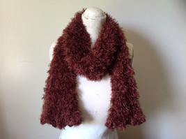 Brown Magic Fuzzy Circle Scarf Can Be Worn Multiple Ways NO TAGS image 7