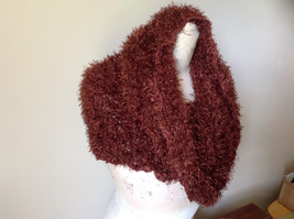 Brown Magic Fuzzy Circle Scarf Can Be Worn Multiple Ways NO TAGS image 3