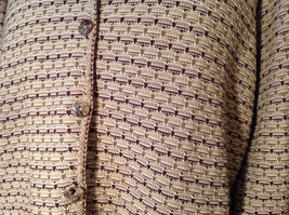 Brown Green Tan Beige Reba Rose Button Down Long Sleeve Sweater Size Medium image 3