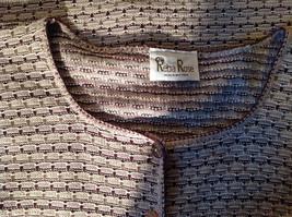 Brown Green Tan Beige Reba Rose Button Down Long Sleeve Sweater Size Medium image 9