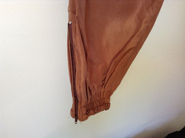 Brown Lined Pants Shell and Lining is 100 Percent Silk Size Small image 3