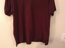 Brown Izod Short Sleeve 100 Percent Cotton Polo Shirt Size Large image 2