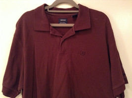 Brown Izod Short Sleeve 100 Percent Cotton Polo Shirt Size Large image 3