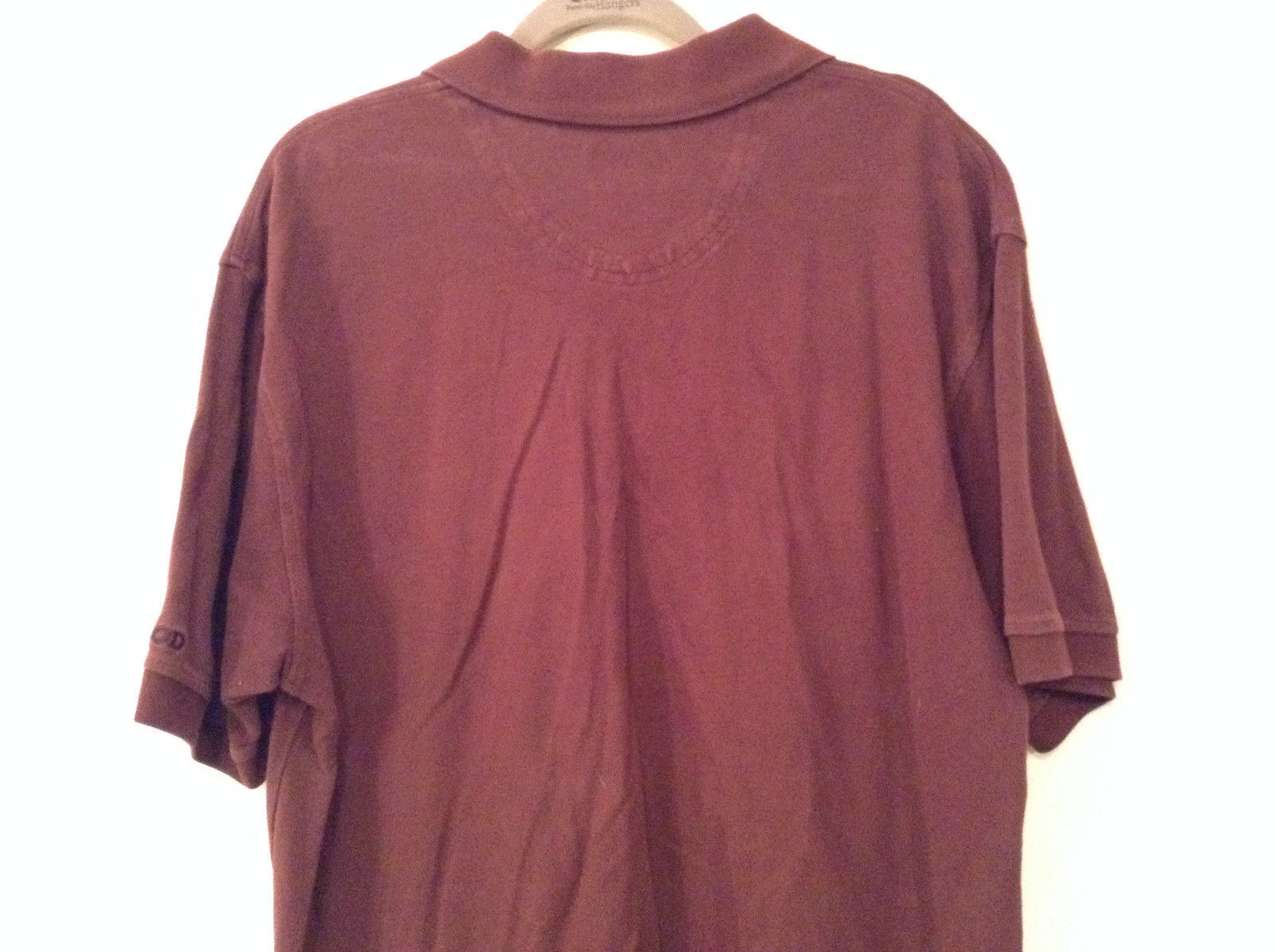 Brown Izod Short Sleeve 100 Percent Cotton Polo Shirt Size Large